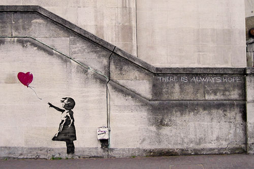 Banksy Girl With Balloon Street Art